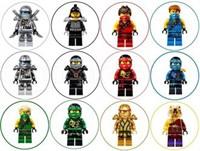 Съедобная картинка Лего Нинзяго для капкейков № 01149, лист А4. Вафельная/сахарная картинка.