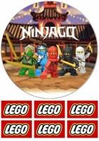 Съедобная картинка Лего Нинзяго № 01151, лист А4. Вафельная/сахарная картинка.
