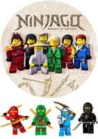 Съедобная картинка Лего Нинзяго № 01167, лист А4. Вафельная/сахарная картинка.