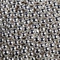 Шарики сахарные металлизированные Серебряные, 4-5 мм, вес: 30 грамм.