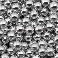 Шарики сахарные металлизированные Серебряные, 8 мм. Вес: 30 грамм.