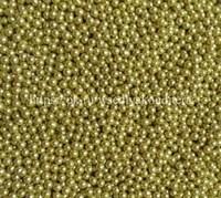 Шарики сахарные металлизированные Золотые, 3 мм. Вес: 30 гр.