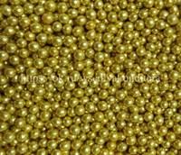 Шарики сахарные металлизированные Золотые, 5 -6 мм. Вес: 30 гр.