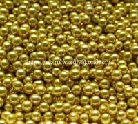 Шарики сахарные металлизированные Золотые, 7 -8 мм. Вес: 30 гр.