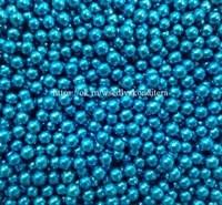 Шарики сахарные металлизированные Голубые, 5 мм. Вес: 30 гр.