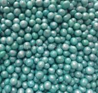 Посыпка шарики жемчуг Бирюзовый, 3-4 мм, вес: 50 грамм.