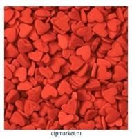 Посыпка сердца красные Мини. Вес: 50 гр.