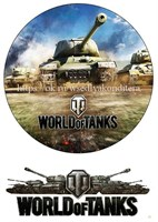 Съедобная картинка World of tanks № 01658, лист А4. Вафельная/сахарная картинка.
