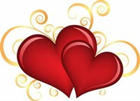 Съедобная картинка  Сердца № 01150, лист А4. Вафельная/сахарная картинка.