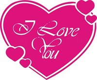 Съедобная картинка I love you № 0157, лист А4. Вафельная/сахарная картинка.