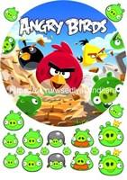 Съедобная картинка Angry Birds № 01786 , лист А4. Вафельная/сахарная картинка.