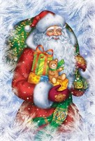 Съедобная картинка  Дед Мороз № 068, лист А4. Вафельная/сахарная картинка.