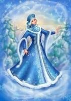 Съедобная картинка  Снегурочка № 067, лист А4. Вафельная/сахарная картинка.