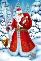 Съедобная картинка  Дед Мороз № 046, лист А4. Вафельная/сахарная картинка.