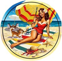 Съедобная картинка Девушка под зонтиком № 01303, лист А4. Вафельная/сахарная картинка.