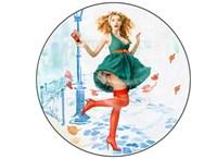 Съедобная картинка Девушка № 01306, лист А4. Вафельная/сахарная картинка.