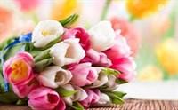 Съедобная картинка Букет цветов № 01109, лист А4. Вафельная/сахарная картинка.