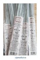 Проволока бело-серая флористическая в оплетке Fiorico. Диаметр: 1,6 мм, длина: 40 см, 12 шт.