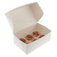 Коробка на 6 капкейков. Материал: картон. Россия. Размер: 25 х 17 х 10 см.