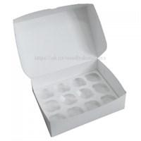 Коробка на 12 капкейков. Материал: картон. Россия. Размер: 33 х 25 х 10 см