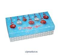 Коробка для конфет и сладостей №40 (Новогодняя). Размер: 20 х 10  х 5,5 см.