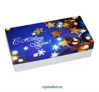 Коробка для конфет и сладостей №42 (Новогодняя). Размер: 20 х 10  х 5,5 см.