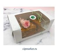 Коробка для торта и сладостей с окном. Размер:23*13*10 см.