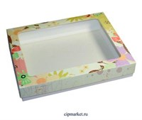 Коробка для пряников и сладостей с окном МК (Лето). Размер: 21*17*3,5 см.