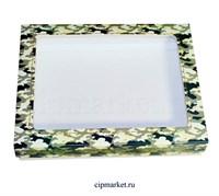 Коробка для пряников и сладостей с окном МК (Камуфляж). Размер: 21*17*3,5 см.