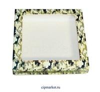 Коробка для пряников и сладостей с окном МК (Камуфляж). Размер: 17*17*3,5 см.