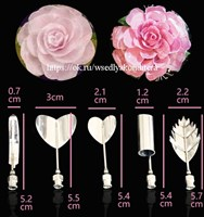 """Набор инструментов для формирования цветов из желе """"Розалия"""", 5 шт. Размер: 5-6 см."""