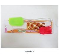 Набор кулинарный Лопатка+кисточка, силикон. Размер: 18 см.