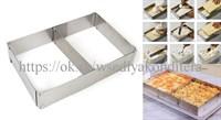Форма разъемная регулируемая для выпечки и сборки торта. Размер: от 18*28 см;до 33*54 см/5 см.