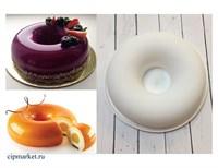 Форма силиконовая для муссовых тортов и мороженого Саварен-2. Размер: 18 см ? 5 см.
