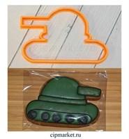 Вырубка Танк-2. Материал: пластик. Размер: 8 см.