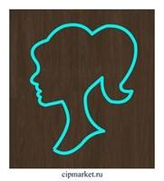 Вырубка Женский профиль. Материал: пластик. Размер: 7 см.