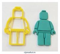 Вырубка Lego man, пластик. Размер: 8 см *4,5 см.