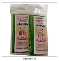 Мастика сахарная Фанси Зеленая (универсальная), Россия. Вес: 100 гр