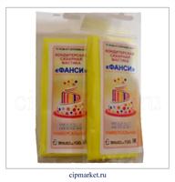 Мастика сахарная Фанси Желтая (универсальная), Россия. Вес: 100 гр.