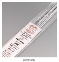 Проволока бело-серая флористическая в оплетке Fiorico. Диаметр: 0,55 мм, длина: 40 см, 30 шт.