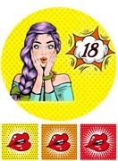 Съедобная картинка Девушка 18 лет № 01345, лист А4. Вафельная/сахарная картинка