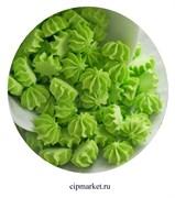 Сахарные фигурки мини-безе Зеленые. Вес: 40 гр. Размер: 1 см.