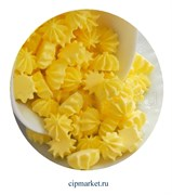 Сахарные фигурки мини-безе Желтые. Вес: 40 гр. Размер: 1 см.