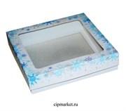 Коробка для пряников и сладостей с окном №29 (Новый год). Размер:17*17*3,5 см