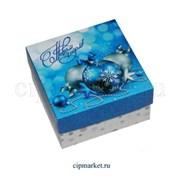 Коробка для конфет и сладостей МК (Новый год- шары). Размер: 10 х 10 х 5,5 см