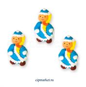 Фигурка сахарная Снегурочка (плоская). Размер: 4,5 см