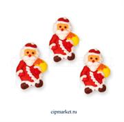 Фигурка сахарная Дед Мороз (плоский). Размер: 4,5 см