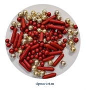 Посыпка-драже сахарное BIAMIX микс Красный. Вес: 30 гр, Греция