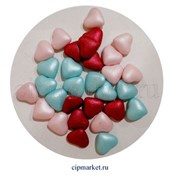 Посыпка-драже сахарное BIAMIX Микс Сердца разноцветные. Вес: 30 гр, Греция