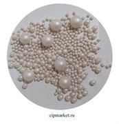 Посыпка-драже сахарное BIAMIX Микс Белый жемчуг. Вес: 30 гр, Греция